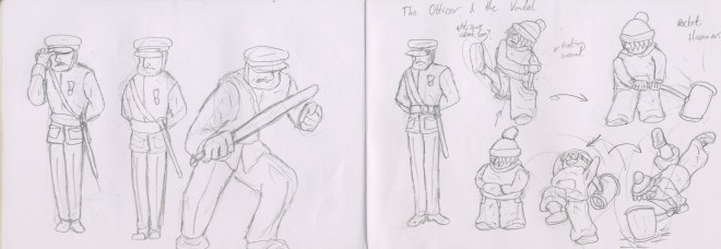 officer and vagrant